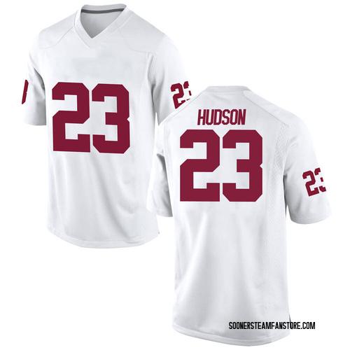Men's Nike Todd Hudson Oklahoma Sooners Game White Football College Jersey