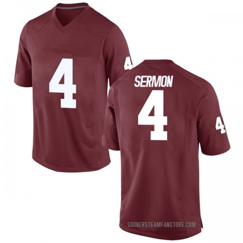 Men's Nike Trey Sermon Oklahoma Sooners Game Crimson Football College Jersey