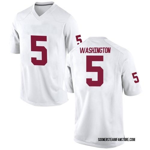 Men's Nike Woodi Washington Oklahoma Sooners Replica White Football College Jersey