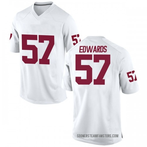 Men's Nike Zach Edwards Oklahoma Sooners Game White Football College Jersey