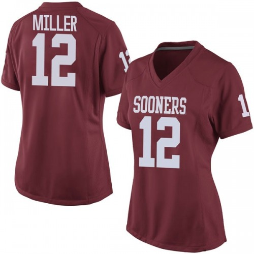 Women's Nike A.D. Miller Oklahoma Sooners Game Crimson Football College Jersey