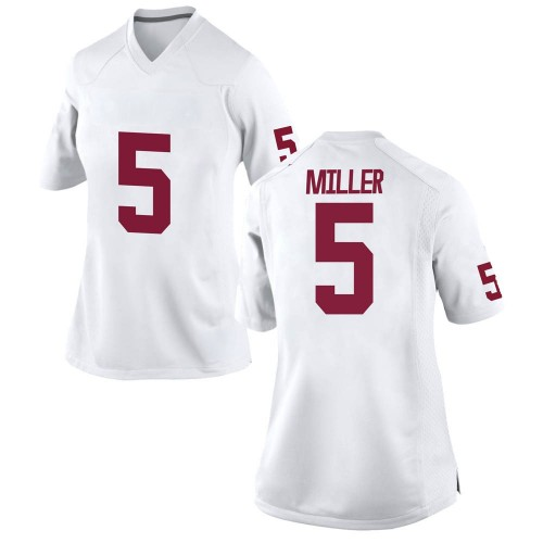 Women's Nike A.D. Miller Oklahoma Sooners Game White Football College Jersey