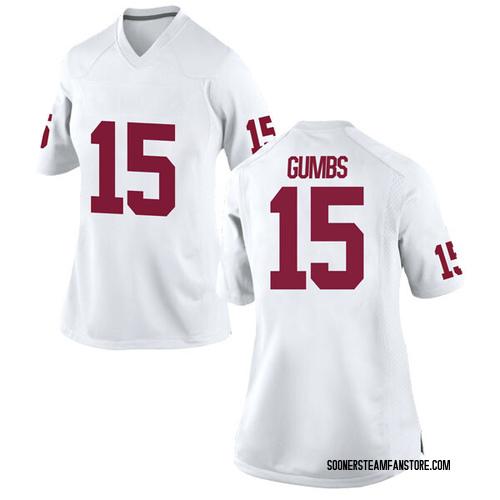 Women's Nike Addison Gumbs Oklahoma Sooners Replica White Football College Jersey