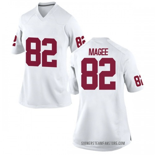 Women's Nike Andrew Magee Oklahoma Sooners Game White Football College Jersey