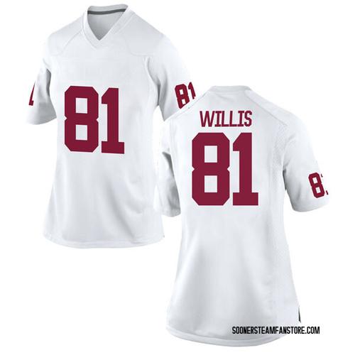 Women's Nike Brayden Willis Oklahoma Sooners Replica White Football College Jersey