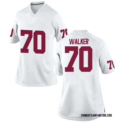 Women's Nike Brey Walker Oklahoma Sooners Replica White Football College Jersey