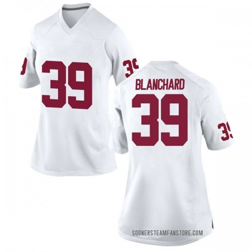 Women's Nike Caden Blanchard Oklahoma Sooners Replica White Football College Jersey