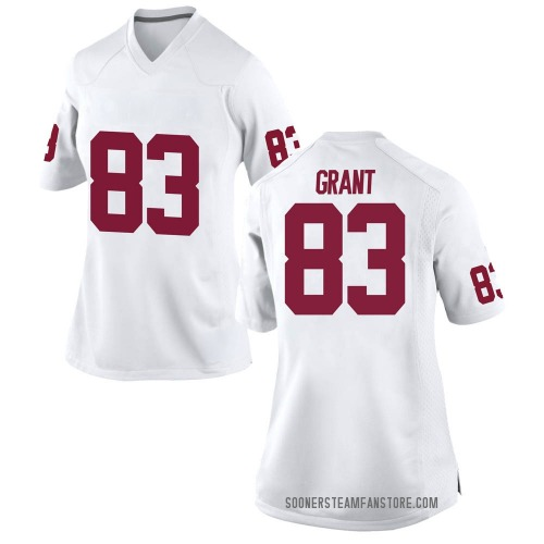 Women's Nike Cason Grant Oklahoma Sooners Game White Football College Jersey