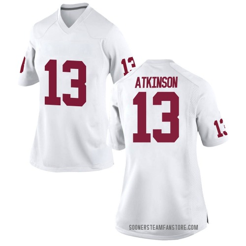 Women's Nike Colt Atkinson Oklahoma Sooners Replica White Football College Jersey