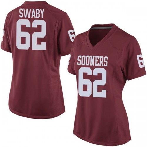 Women's Nike David Swaby Oklahoma Sooners Game Crimson Football College Jersey