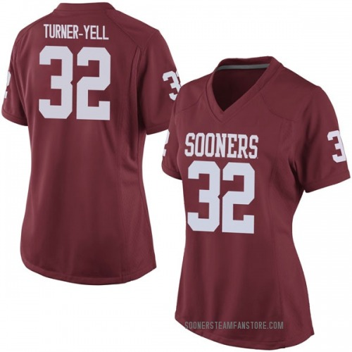 Women's Nike Delarrin Turner-Yell Oklahoma Sooners Game Crimson Football College Jersey