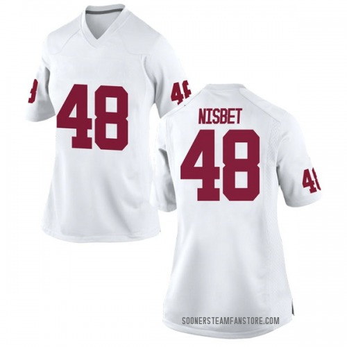 Women's Nike Deuce Nisbet Oklahoma Sooners Game White Football College Jersey