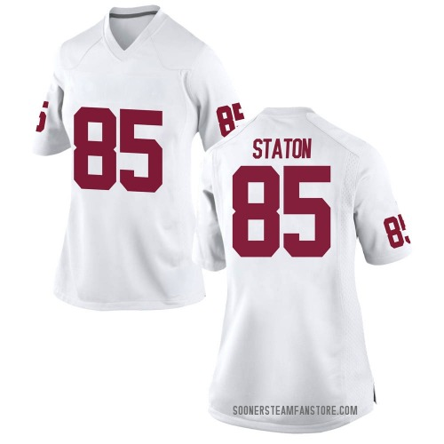 Women's Nike Devin Staton Oklahoma Sooners Game White Football College Jersey
