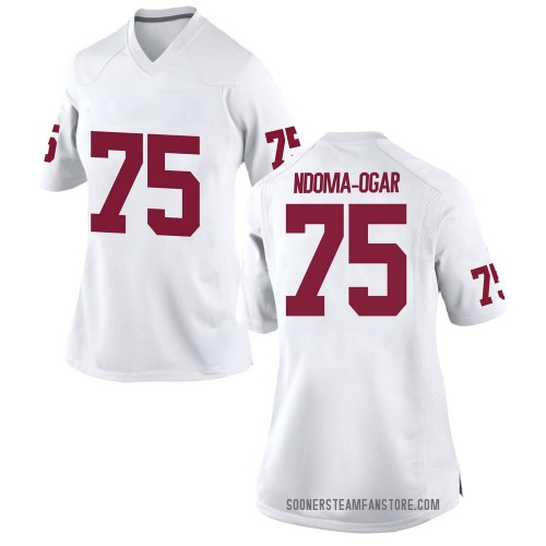 Women's Nike E.J. Ndoma-Ogar Oklahoma Sooners Game White Football College Jersey