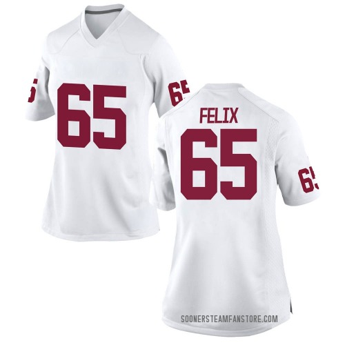 Women's Nike Finley Felix Oklahoma Sooners Replica White Football College Jersey
