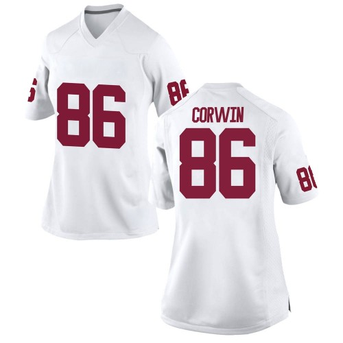 Women's Nike Finn Corwin Oklahoma Sooners Replica White Football College Jersey