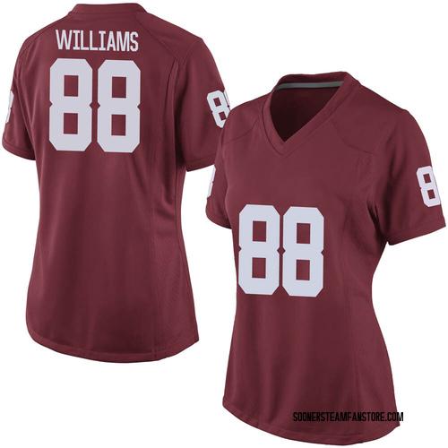 Women's Nike Greydon Williams Oklahoma Sooners Replica Grey Crimson Football College Jersey