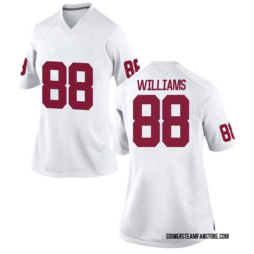 Women's Nike Greydon Williams Oklahoma Sooners Replica White Football College Jersey
