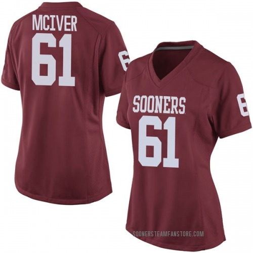 Women's Nike Ian McIver Oklahoma Sooners Game Crimson Football College Jersey