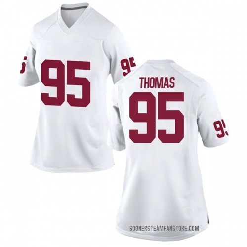 Women's Nike Isaiah Thomas Oklahoma Sooners Replica White Football College Jersey