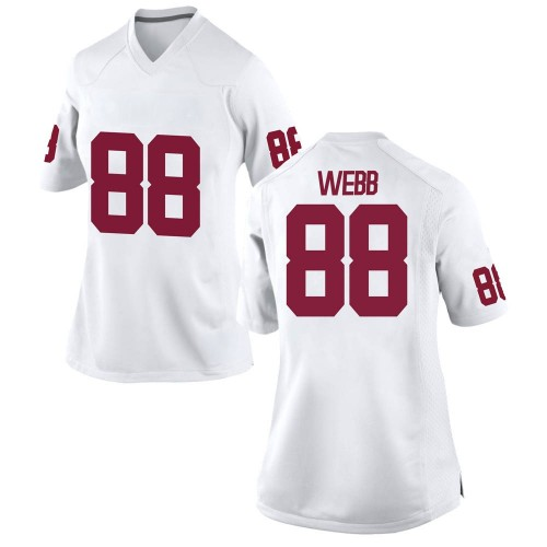 Women's Nike Jackson Webb Oklahoma Sooners Game White Football College Jersey