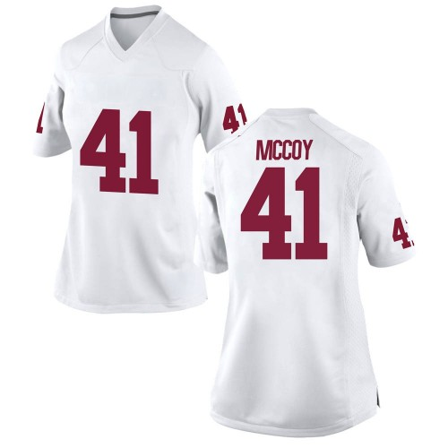 Women's Nike Jake McCoy Oklahoma Sooners Replica White Football College Jersey