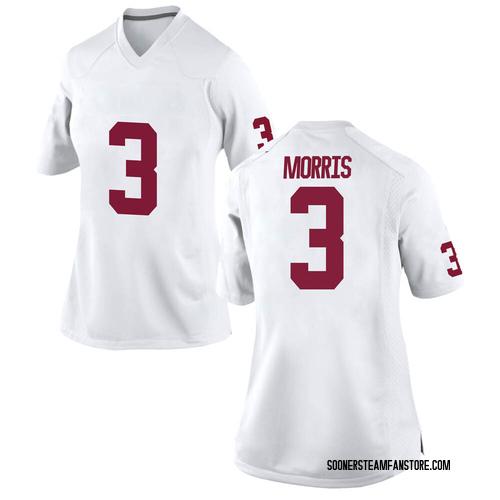 Women's Nike Jamal Morris Oklahoma Sooners Game White Football College Jersey