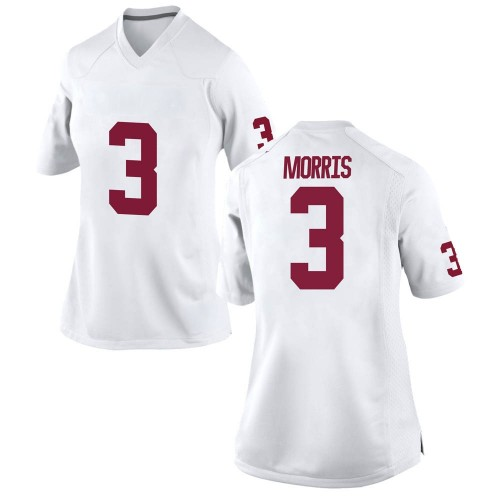 Women's Nike Jamal Morris Oklahoma Sooners Replica White Football College Jersey
