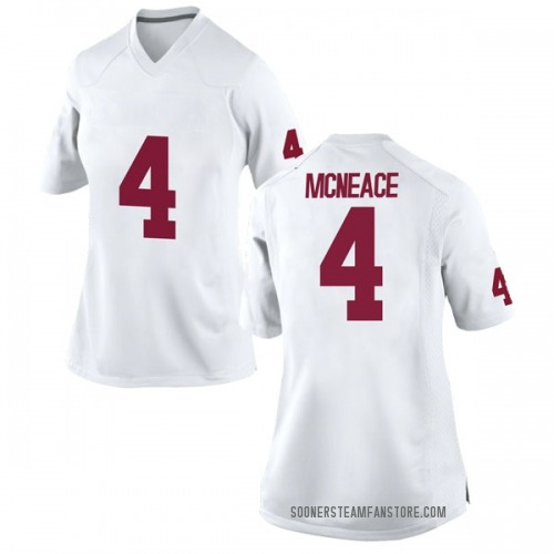 Women's Nike Jamuni McNeace Oklahoma Sooners Game White Football College Jersey