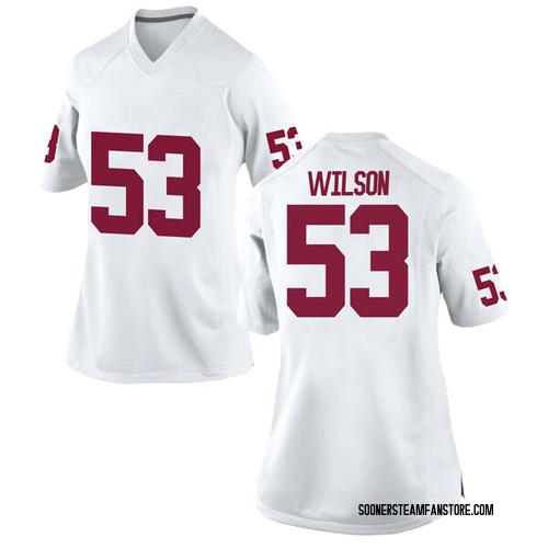 Women's Nike Jax Wilson Oklahoma Sooners Replica White Football College Jersey