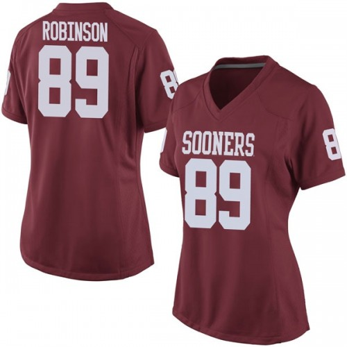 Women's Nike Jaylon Robinson Oklahoma Sooners Replica Crimson Football College Jersey