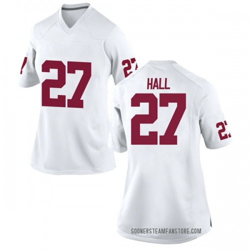 Women's Nike Jeremiah Hall Oklahoma Sooners Game White Football College Jersey