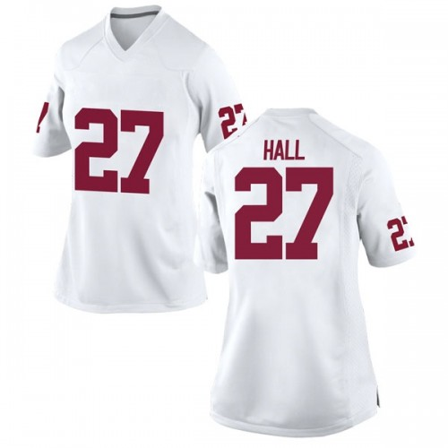 Women's Nike Jeremiah Hall Oklahoma Sooners Replica White Football College Jersey