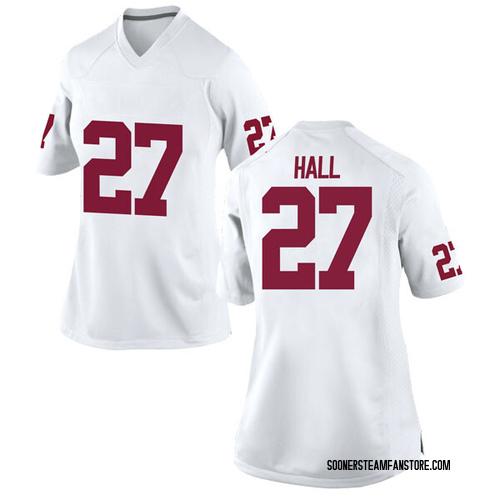 Women's Nike Jeremiah Hall Oklahoma Sooners Replica White Football College Jersey