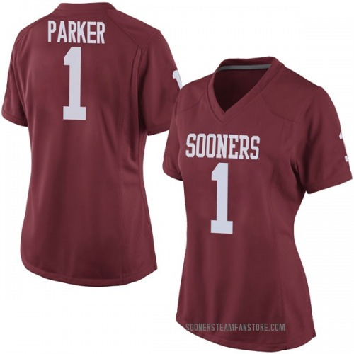 Women's Nike Jordan Parker Oklahoma Sooners Game Crimson Football College Jersey