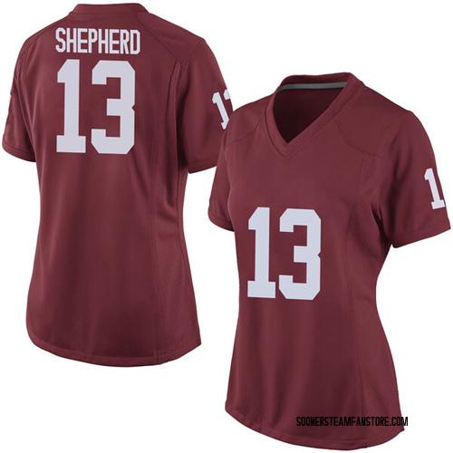 Women's Nike Jordan Shepherd Oklahoma Sooners Replica Crimson Football College Jersey