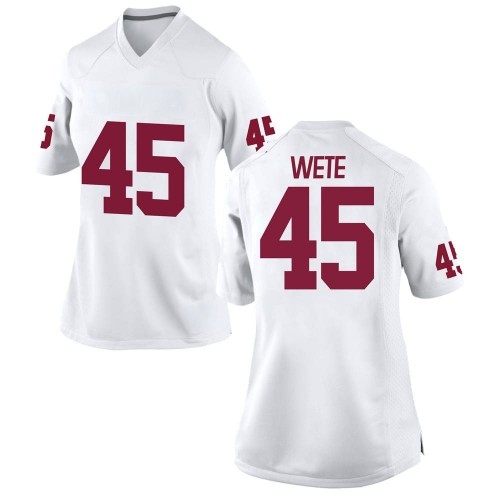 Women's Nike Joseph Wete Oklahoma Sooners Game White Football College Jersey