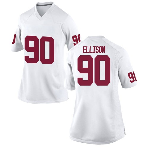 Women's Nike Josh Ellison Oklahoma Sooners Replica White Football College Jersey