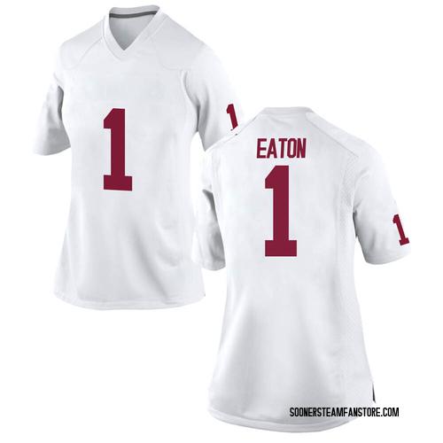 Women's Nike Joshua Eaton Oklahoma Sooners Replica White Football College Jersey