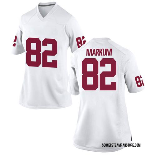 Women's Nike Josiah Markum Oklahoma Sooners Game White Football College Jersey