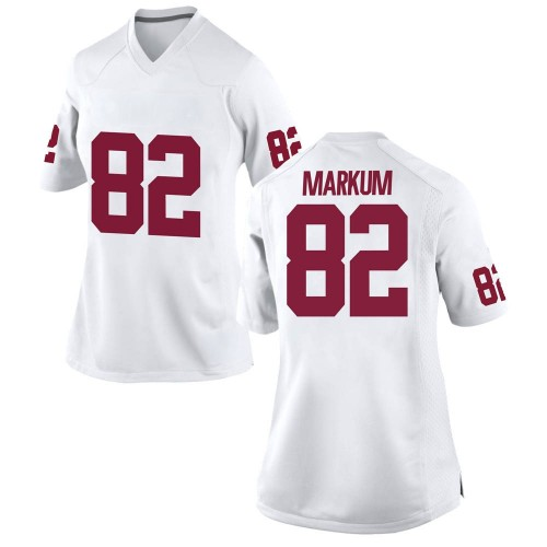 Women's Nike Josiah Markum Oklahoma Sooners Replica White Football College Jersey