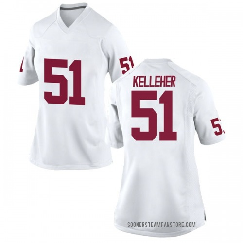 Women's Nike Kasey Kelleher Oklahoma Sooners Replica White Football College Jersey