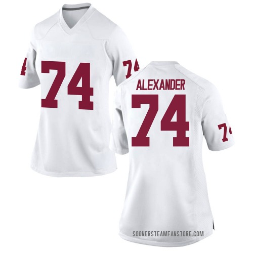 Women's Nike Marcus Alexander Oklahoma Sooners Replica White Football College Jersey