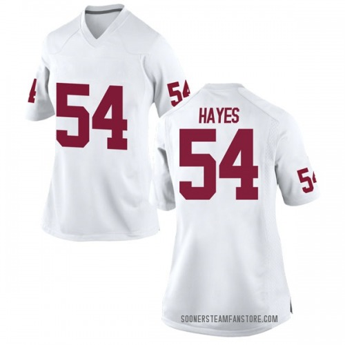 Women's Nike Marquis Hayes Oklahoma Sooners Replica White Football College Jersey