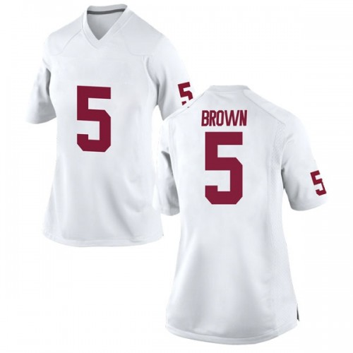Women's Nike Marquise Brown Oklahoma Sooners Game White Football College Jersey