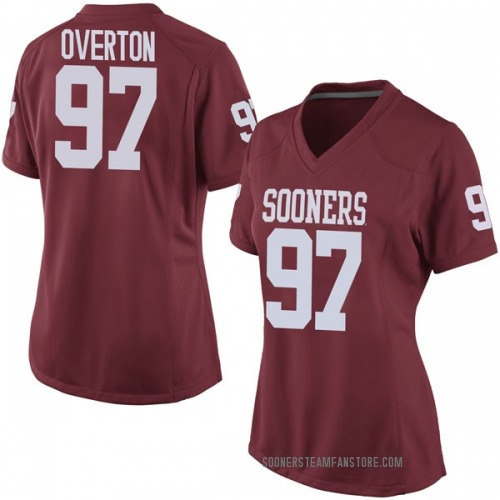 Women's Nike Marquise Overton Oklahoma Sooners Game Crimson Football College Jersey