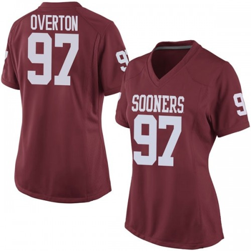 Women's Nike Marquise Overton Oklahoma Sooners Replica Crimson Football College Jersey