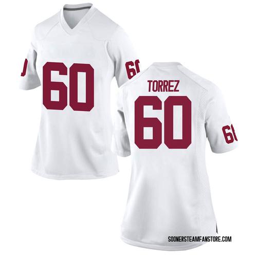 Women's Nike Matt Torrez Oklahoma Sooners Replica White Football College Jersey