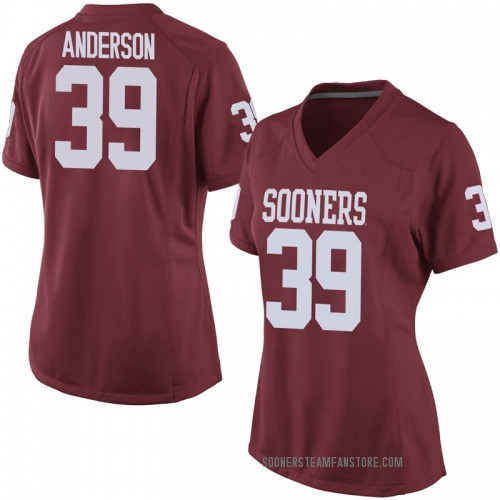 Women's Nike Michael Anderson Oklahoma Sooners Replica Crimson Football College Jersey
