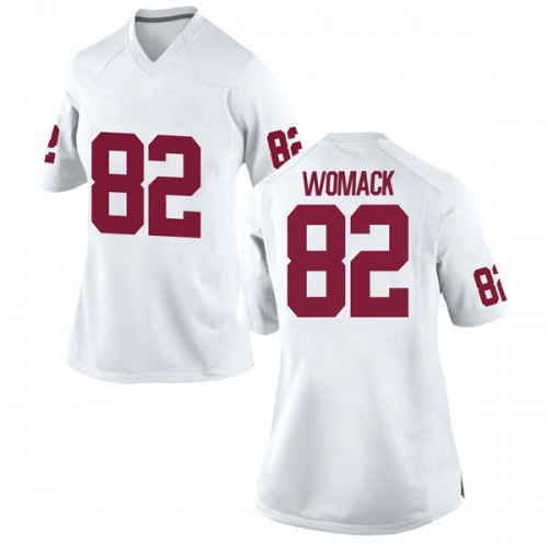 Women's Nike Nathan Womack Oklahoma Sooners Replica White Football College Jersey